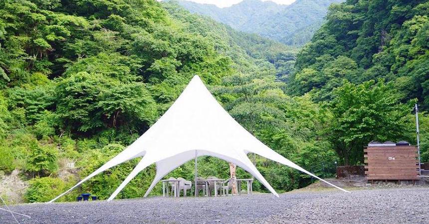 蜂花苑キャンプ場(やどろぎ荘・ミロクキャンプ場)