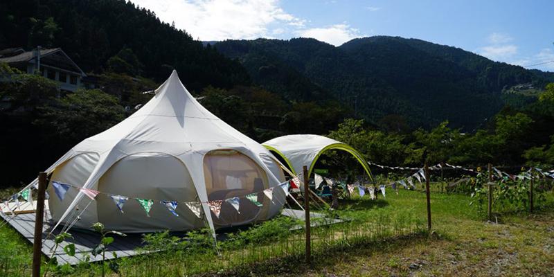 月ヶ谷温泉村キャンプ場 pangea fieldグランピングスポット