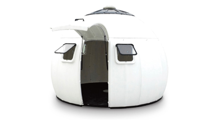 外観未来のテントDIYプレハブ工法ハウス