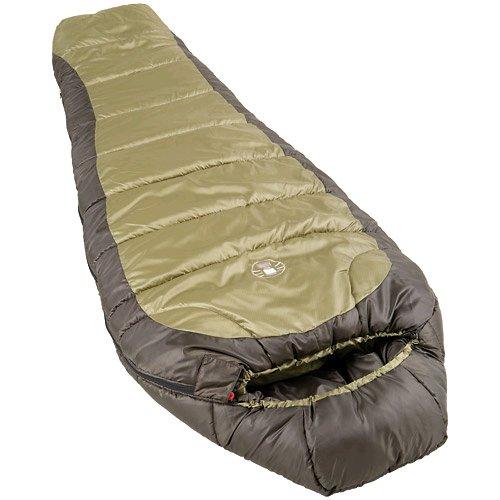 Colemanコールマン大人用寝袋(マミー型シェラフ)緑-18度まで対応sleeping bag Mummy Style