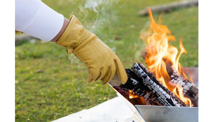 FIRE-SHIELDグローブレザーファイヤーシールド難燃焚火の粉