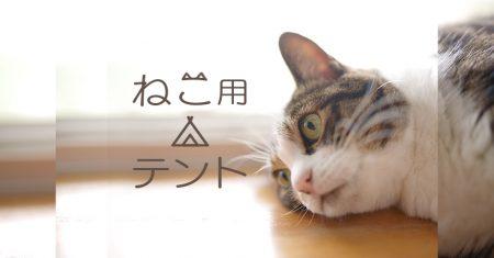 ネコ用テント家キャンで癒されたい