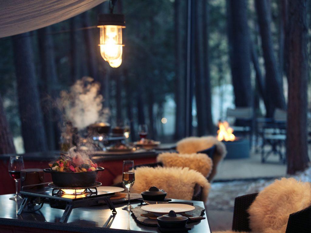 フォレストキッチングランピングで冬ジビエと焚火