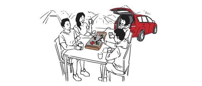 ホットプレート蔦屋電気×三菱自動車「電気キャンプ」を提案