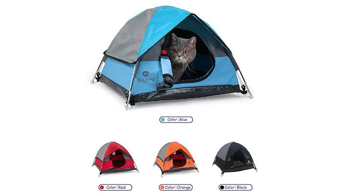 Cat-Camp1ネコ用テント家キャンで癒されたい