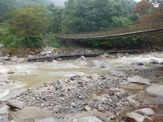 被害状況2台風19号被害から不動尊公園キャンプ場再開
