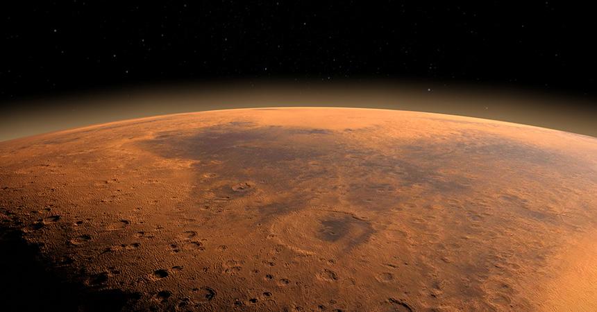 火星 キャンプで天体観測