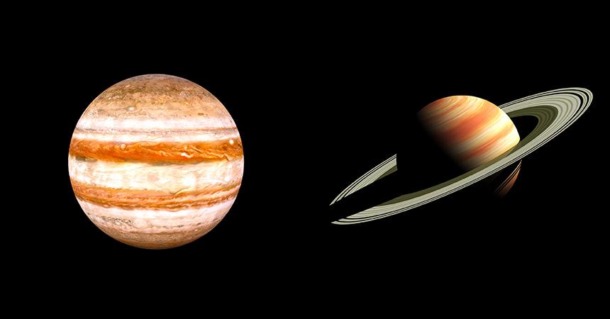 木星 土星 キャンプで天体観測